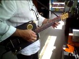 Cigar box guitar fabrication Arnaud DALLIER (demo)