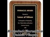 Walnut Plaques, Mirror Plaques & Shield Plaques