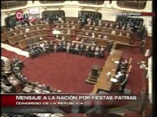 Último Mensaje a la Nación del presidente Alan García - 2010