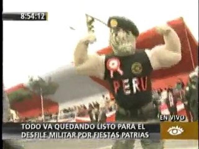 Rambo se alista para desfilar durante parada militar