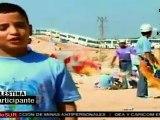 Niños palestinos vuelan cometas y llaman atención sobre bl