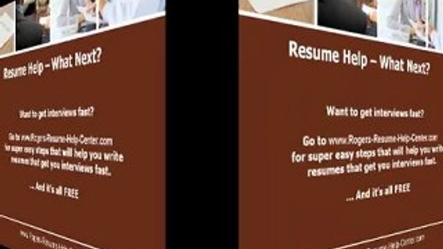 Resume Help Offered To Help Job-Seekers