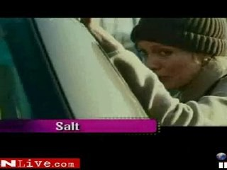 Angelina Jolie speaking about salt and brad pit