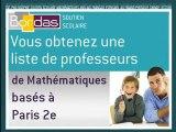 Cours particulier Mathématiques - Paris 2e