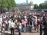 Paris : manifestation pour la régularisation de 500 sans-papiers