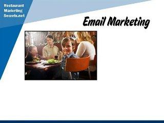 Restaurant Marketing Tips   Email Marketing