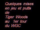 Tiger Woods Drives et putts au WGC le 1er jour Aout 2010