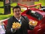 "Wienerschnitzel Cheese Cheese Fries ""Singing"""