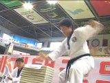 taekwondo compétition casse plaques seniors
