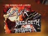 Slayer Megadeth Testament Gibson Amphitheater - Discount