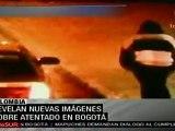 Difunden nuevas imágenes del atentado en Bogotá