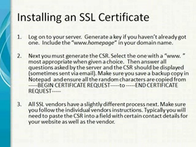 SSL Encryption & Website Security