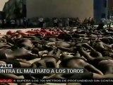 Protestan en Bilbao contra corridas de toros