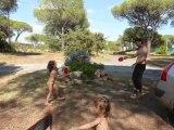Aout 2010 - Stéph et Lucile au ping pong au camping