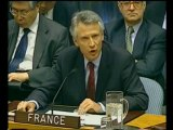 Discours de Dominique de Villepin à l'ONU - 14 février 2003