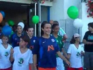 40 ans du foot féminin en Savoie, l'entrée des joueuses