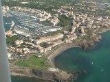 Promenade aérienne en ULM AX3 de Béziers au Cap d'Agde