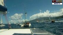 West Indies - Martinique Guadeloupe vue du Bateau