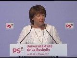 Discours Martine Aubry - La Rochelle 2010