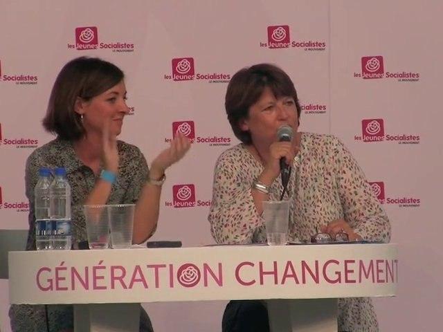 Martine Aubry face aux Jeunes Socialistes
