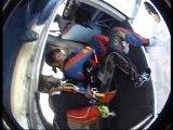 Saut en parachute justine et papa , 4000 m ( AVEC SON ! )