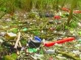 Macro-déchets sur les rives de la Seine Normande