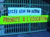 Uzès : le lycée Gide se mobilise