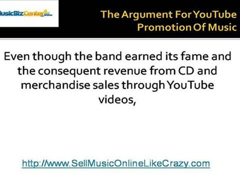 The Argument For YouTube Promotion Of Music