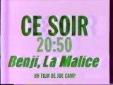 Bande Annonce Du Film Benji La Malice 1995 M6