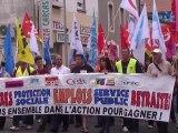 Manifestation retraites,8000 personnes à Carcassonne 7 09 10