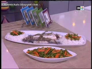 Choumicha Asmaa Khamlichi - loup moucheté cuit à la vapeur