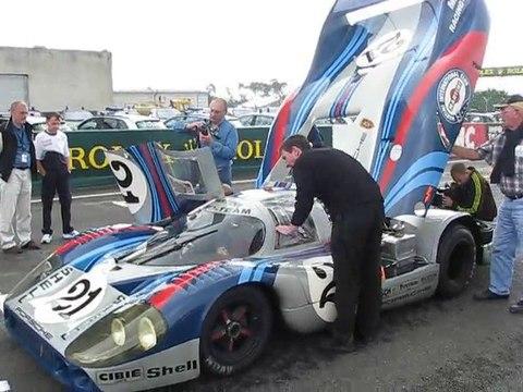 La Porsche 917 restaurée roule au Mans, le 8 juin 2010
