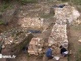 Louvres, fouilles au château d'Orville