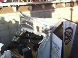 Accident de camion sur les Champs