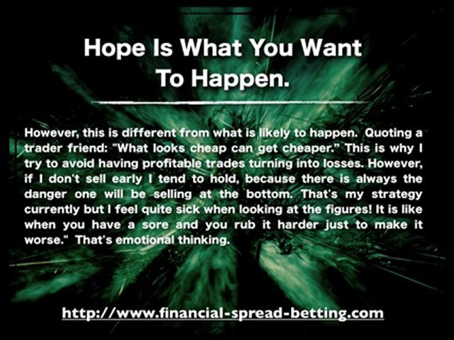 Golden Rules of Spread Betting: Emotional Trading