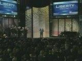 Tony Blair awarded Liberty Medal