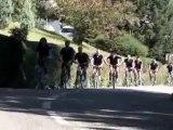 L'équipe du Savoie Handball fait son tour de Chambéry à vélo