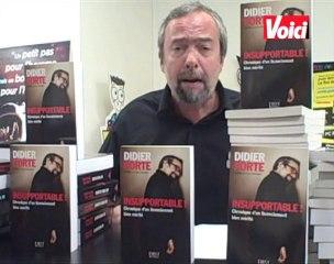 Didier Porte fait la promo de son livre, Insupportable