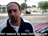 window tinting removal and how to remove car tinting