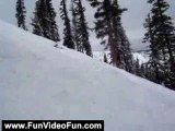 Funny Videos: Snowboarding Fall Down Mountain