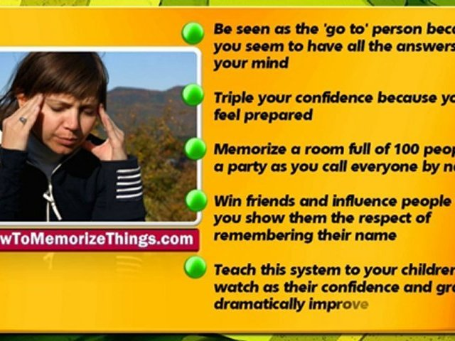 How to Improve your Memory – How to Memorize Things
