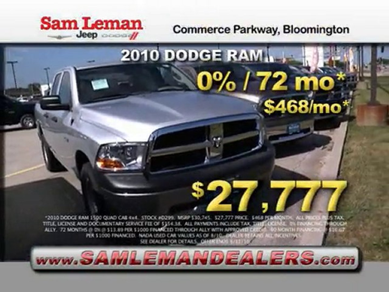 Sam Leman Dodge >> September 2010 Tv Sam Leman Dodge Bloomington Il Video