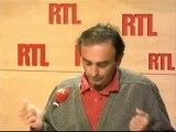 Z comme Zemmour (RTL Matin, 21/09/2010) : rentrée des flics