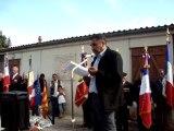 Inauguration d'une stèle à Montmeyan le 18 septembre 2010