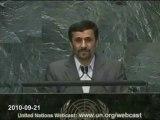 ONU IRAN Mahmoud Ahmadinejad 21/09/2010
