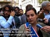 Jeudi Noir/Place des Vosges: soutiens des élus regionaux