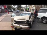 Raw Video: Car crash in Bloomfield New Jersey