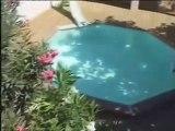 Montage piscine bois ronde avec terrasse bois en pin