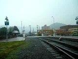 WMSR 734 enters Cumberland Station