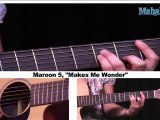 How to Play Makes Me Wonder by Maroon 5 on Guitar